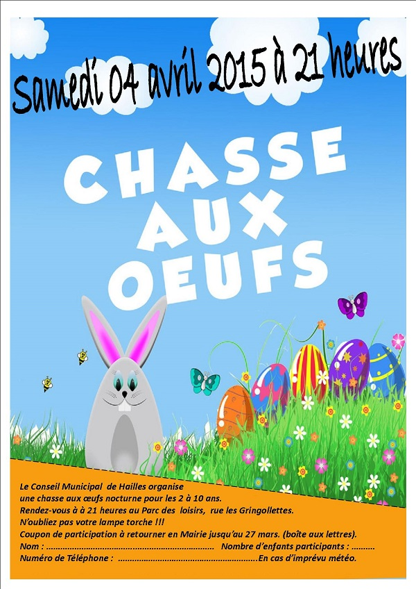 chasse aux oeufs.